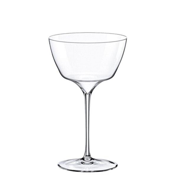 13 oz. Glass Cocktail Saucer Glass (Set of 4) by RONA