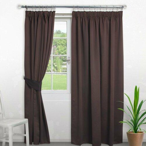Pencil Pleat Blackout Thermal Curtain Symple Stuff Colour: M
