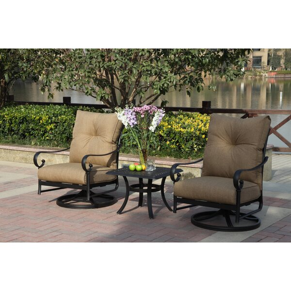 Lanesville 3 Piece Conversation Set with Cushions by Darby Home Co