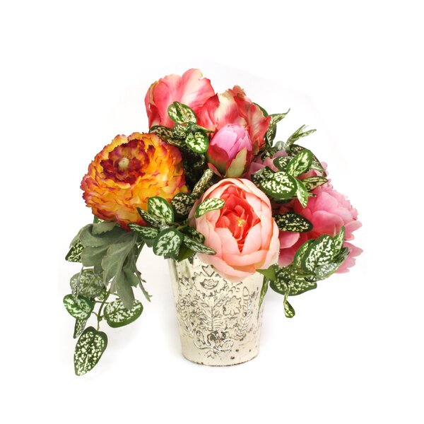 Garden Mixed Floral Arrangement in Vase by Rosdorf Park