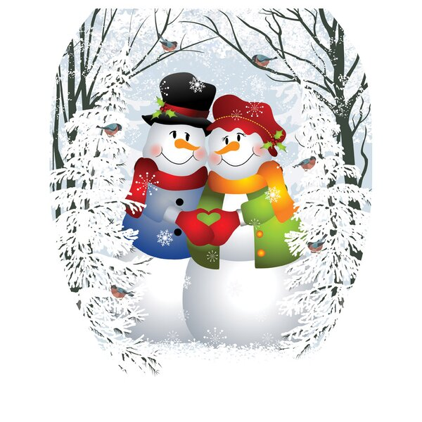 Snow Couple Toilet Seat Decal by Toilet Tattoos