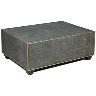 Price Check Tressie Leather Shagreen Coffee Table ByEverly Quinn