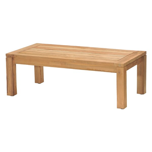 Eady Solid Wood Coffee Table by Highland Dunes