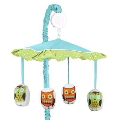 Hooty Turquoise and Lime Musical Mobile by Sweet Jojo Designs
