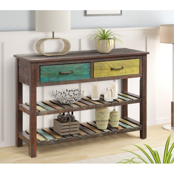 Highland Dunes Brown Console Tables