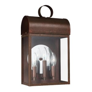 Minerva 3-Light Outdoor Wall Lantern