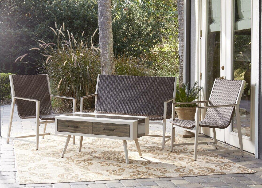 urban facettes 4 sitzer loungem bel set delao mid century. Black Bedroom Furniture Sets. Home Design Ideas