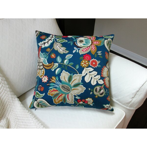 Lackey Flower Indoor/Outdoor Pillow by Bayou Breeze