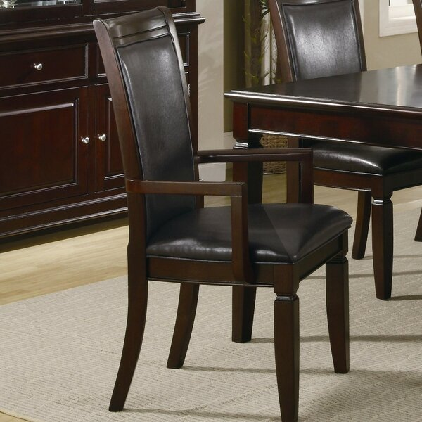 Emmanuel Wooden Upholstered Dining Chair (Set of 2) by Darby Home Co