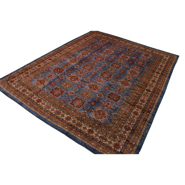 One-of-a-Kind Oakes Hand-Knotted Blue/Brown 12'11 x 16'2 Wool Area Rug