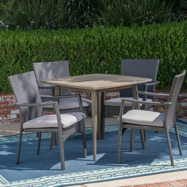 Eliason 5 Piece Dining Set with Cushions by Latitude Run