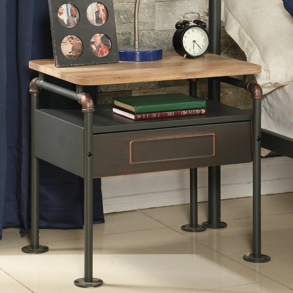Coughlin 1 Drawer Nightstand by Williston Forge