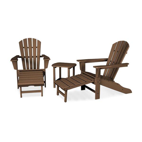 South Beach Ultimate Adirondack 3 Piece Set Teak Seating Group by POLYWOOD®