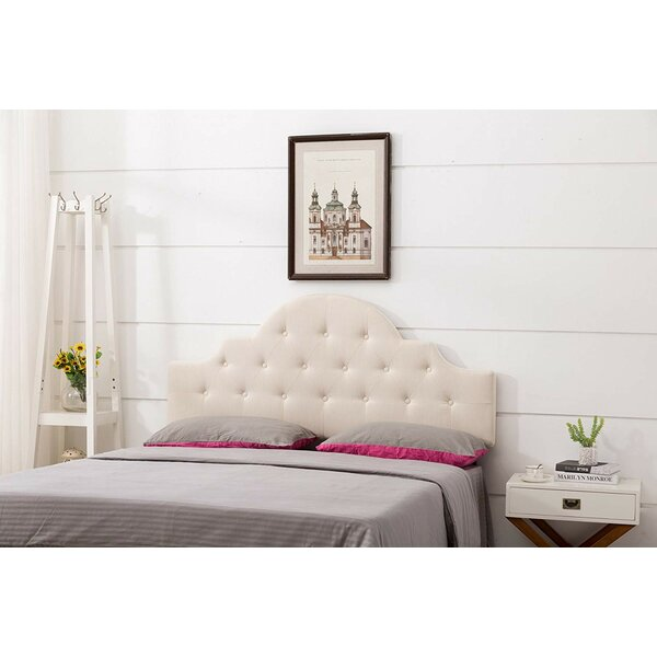 Bagby Twin Upholstered Panel Headboard by House of Hampton