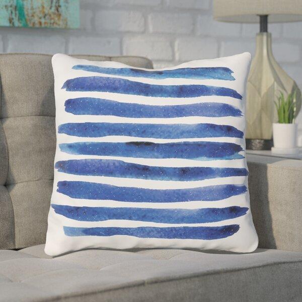 Gangemi Stripe Throw Pillow by Wrought Studio