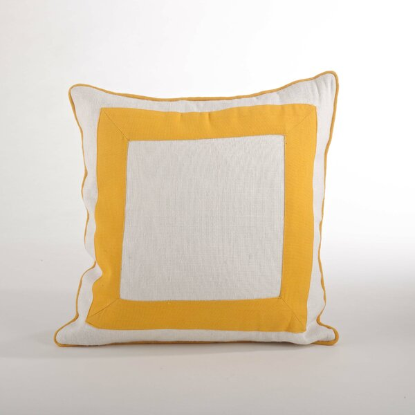 Crete Banded Design Down Filled Throw Pillow by Saro