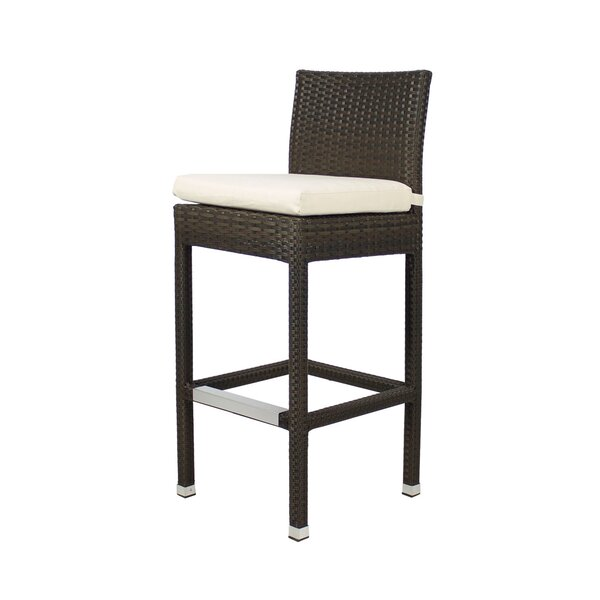 Lasater 30 Patio Bar Stool with Cushion by Brayden Studio