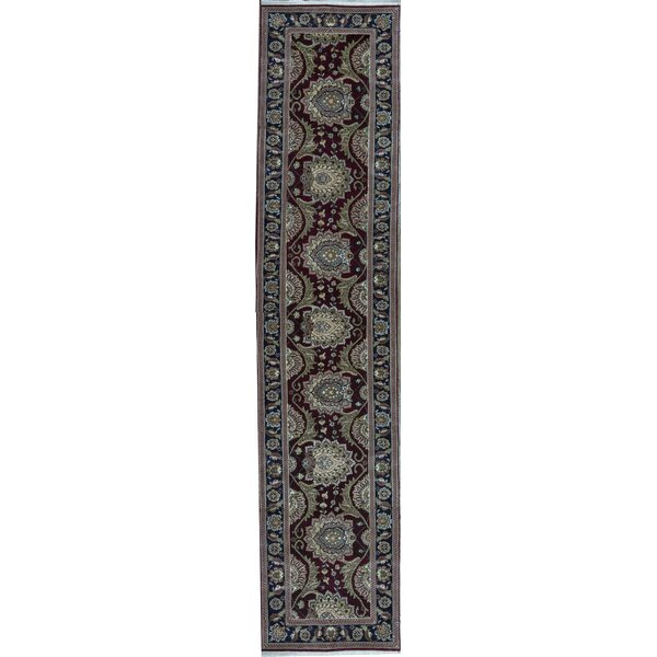 Manchuria Hand Knotted Wool Navy/Brown/Gray Rug