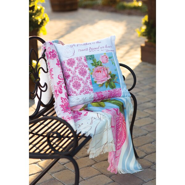 Blooming Buds - Dye Throw Pillow by Manual Woodworkers & Weavers