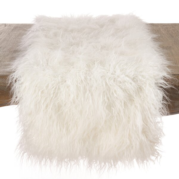 Lawless Faux Fur Table Runner by Rosdorf Park
