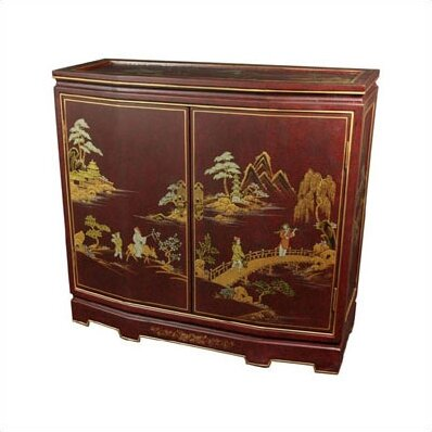 Diane Slant Front Crackle Accent Cabinet by World Menagerie