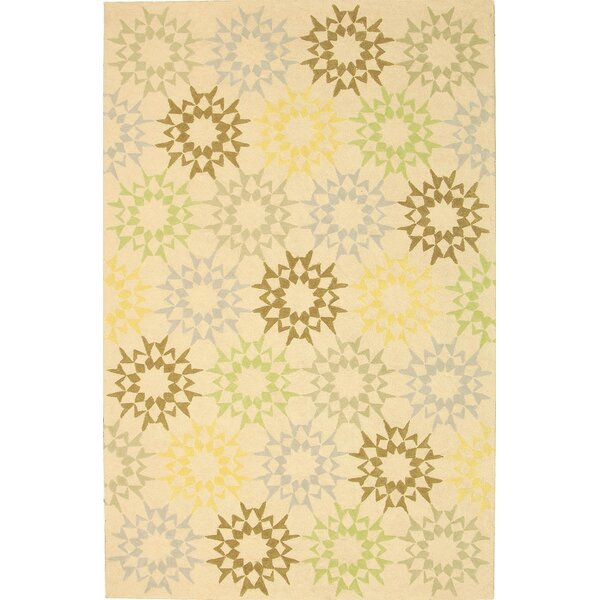 Martha Stewart Hand-Hooked Cotton Creme Area Rug by Martha Stewart Rugs
