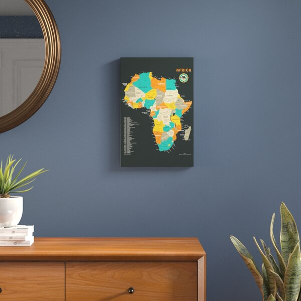 Africa Map Graphic Art on Wrapped Canvas by Langley Street