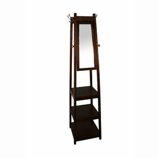 Riles 3-Tier Tower Shoe/Coat Rack with Mirror by Latitude Run