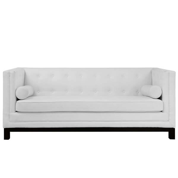 Stately Leather Chesterfield Sofa by Modway