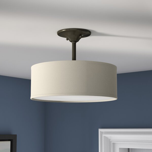 Greenwell 2-Light Drum Chandelier by Three Posts