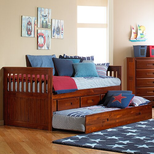 kaitlyn twin slat bed with storage