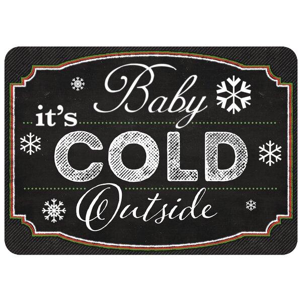 Cold Outside Kitchen Mat