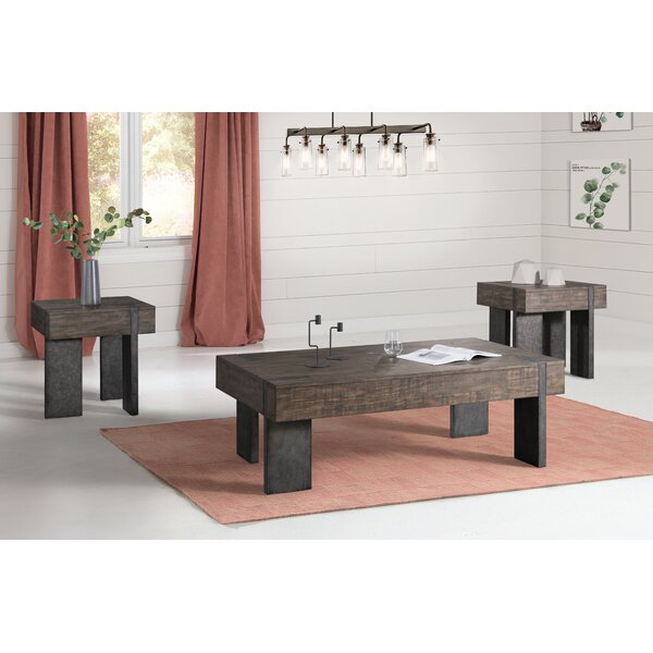 Kraus 3 Piece Coffee Table Set By Loon Peak