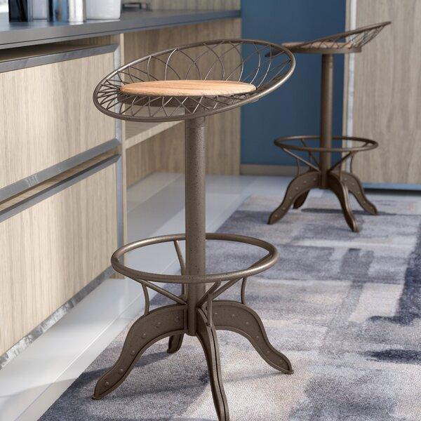 Daniels Adjustable Height Swivel Bar Stool by Trent Austin Design