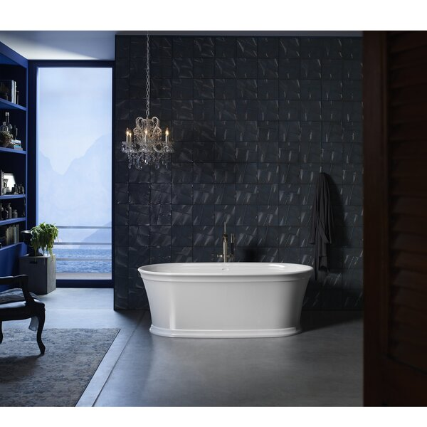 Memoirs® 66 x 36 Freestanding Bath with Center Toe-Tap Drain by Kohler