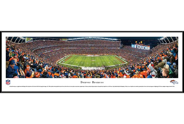 NFL Denver Broncos - 50 Yard Line Framed Photographic Print by Blakeway Worldwide Panoramas, Inc