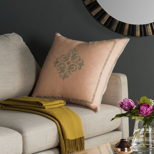 Fiesole Linen Throw Pillow (Set of 2) by Safavieh