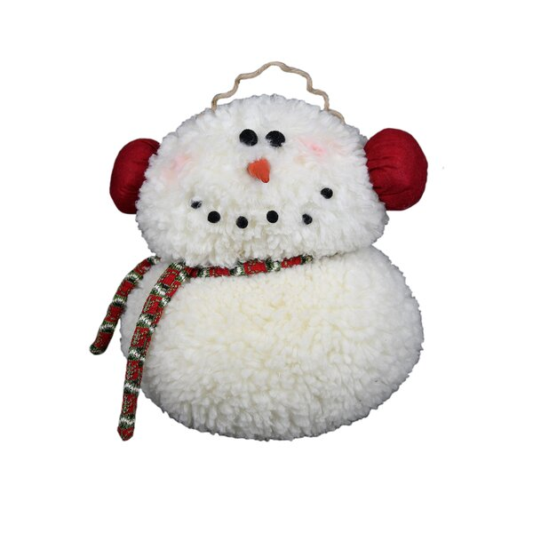 Smiley Snowman Stuffed Holiday Accent by The Holiday Aisle