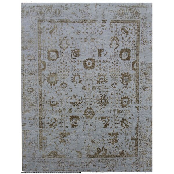 Lexington Hand-Knotted Blue/Gold Area Rug by Exquisite Rugs