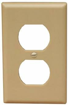 1 Gang Duplex Lexan Receptacle Wall Plates in Ivory by Morris Products