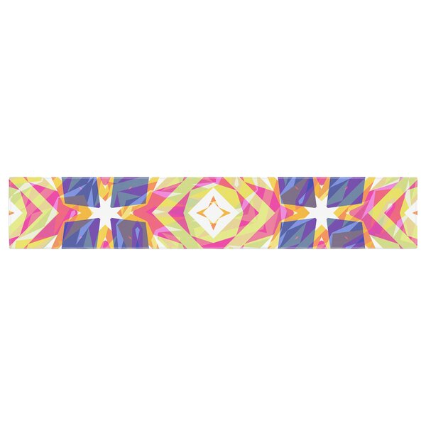 Miranda Mol Dancing Tiles Table Runner by East Urban Home