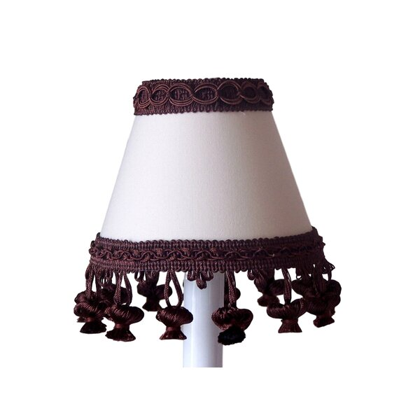 Chocolate Muffin Mix 7 H Fabric Empire Lamp Shade ( Screw On ) in Brown/White