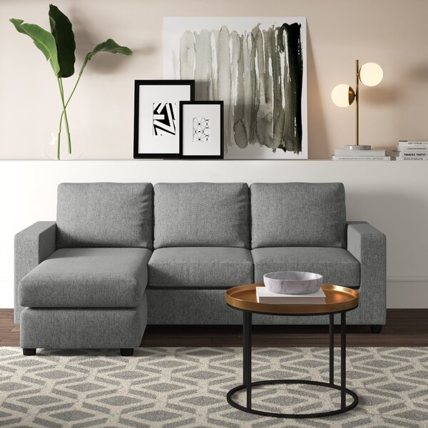 Purchase Online Cleland Heights Reversible Sectional with Ottoman by Mercury Row by Mercury Row