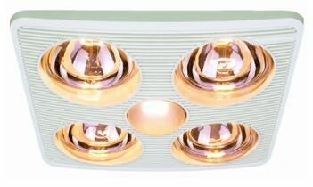 90 CFM Bathroom Fan with Heater and Light by Aero Pure
