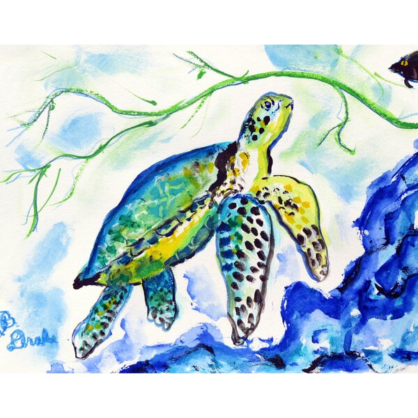 Yellow Sea Turtle 18 Placemat (Set of 4) by Betsy Drake Interiors