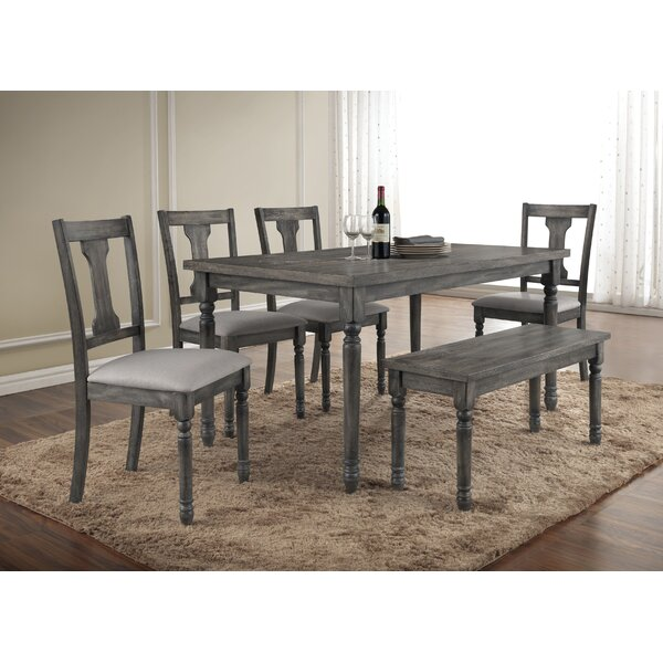 Dunwoody 6 Piece Dining Set by Three Posts