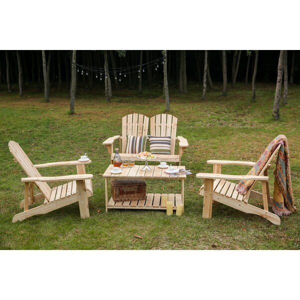 Spring Street Wooden 4 Piece Sofa Seating Group by Millwood Pines