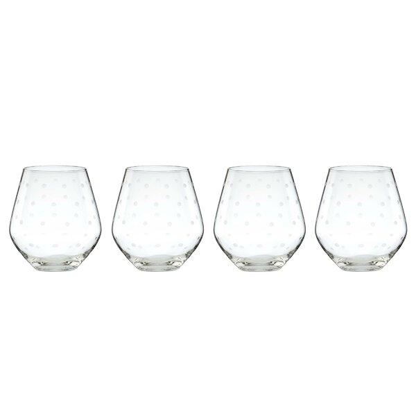 Larabee Dot 16 oz. Red Wine Glass (Set of 4) by kate spade new york