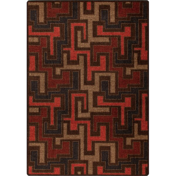 Mix and Mingle Red Umber Junctions Rug by Milliken