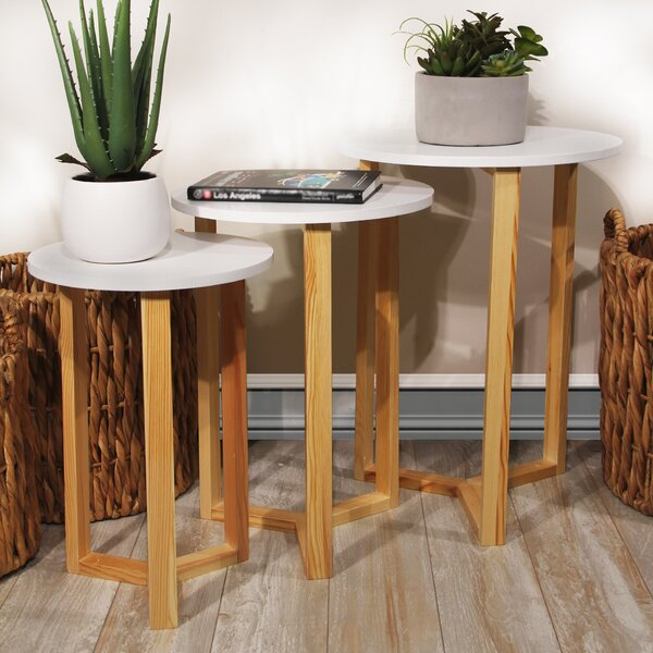 Coulombe Nested Round 3 Piece Coffee Table Set by George Oliver George Oliver